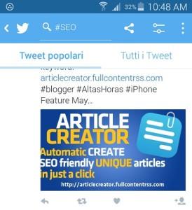 creazione automatica di articoli