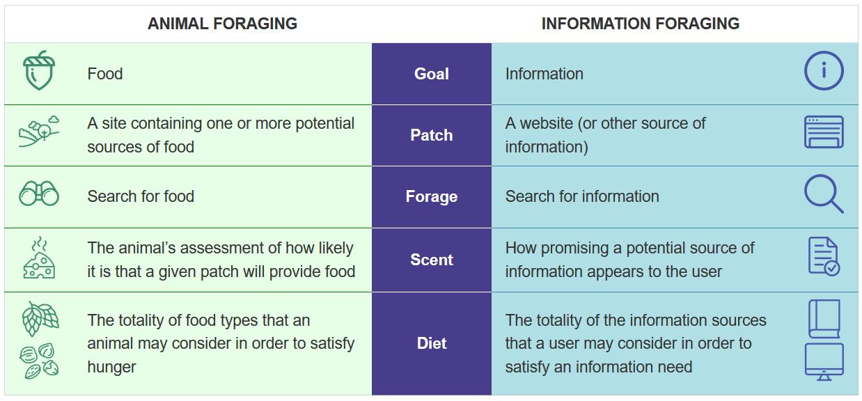 teoria ricerca informazioni