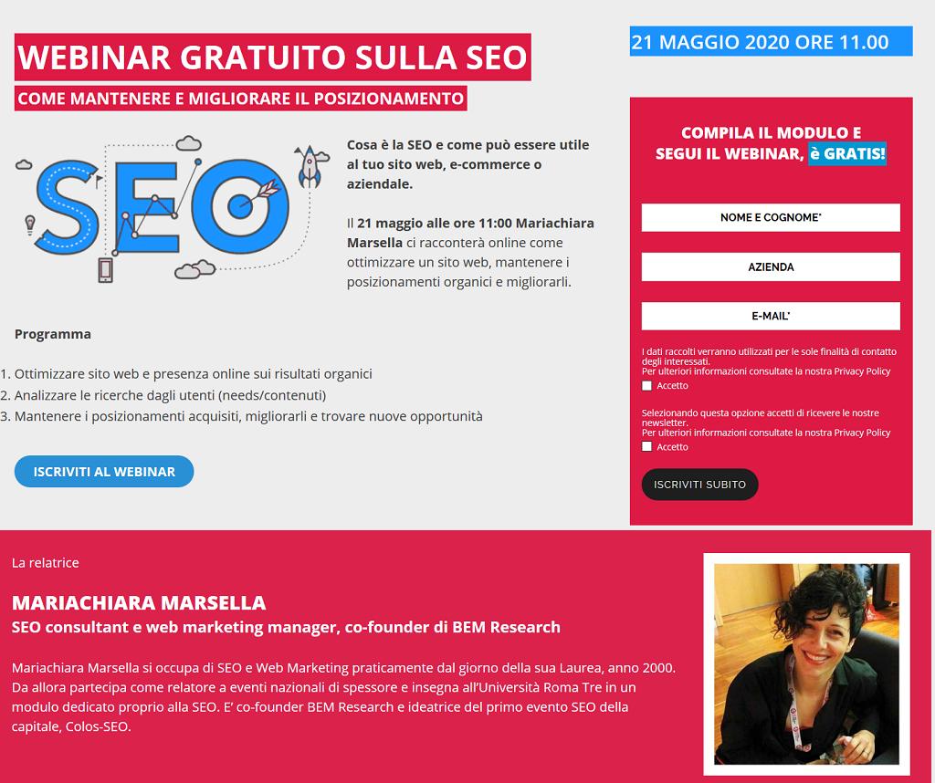 webinar seo gratuito